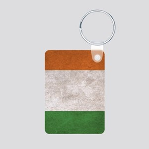 Ireland Flag Vintage / Dis Aluminum Photo Keychain