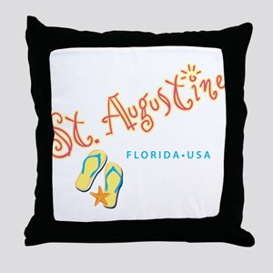 St. Augustine - Throw Pillow