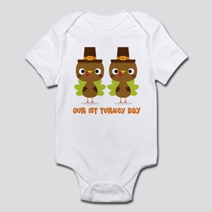 Twins 1st Thanksgiving Body Suit