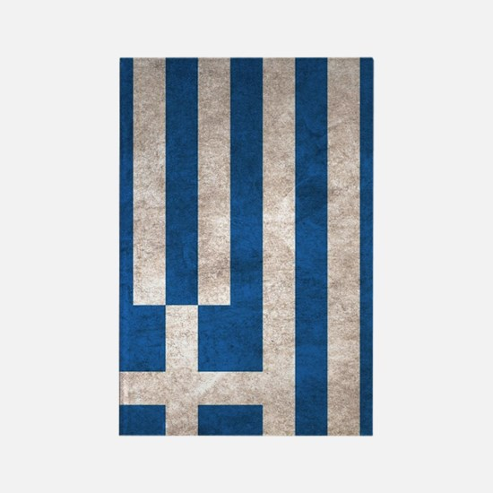 Greece Flag Vintage / Distressed Rectangle Magnet