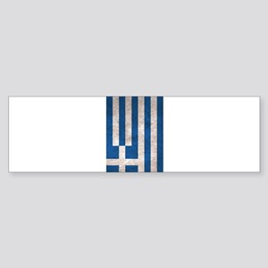 Greece Flag Vintage / Distressed Bumper Sticker