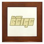 All About Beige Framed Tile