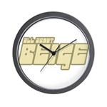 All About Beige Wall Clock