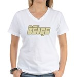 All About Beige Women's V-Neck T-Shirt