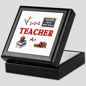 Teachers Do It With Class Keepsake Box