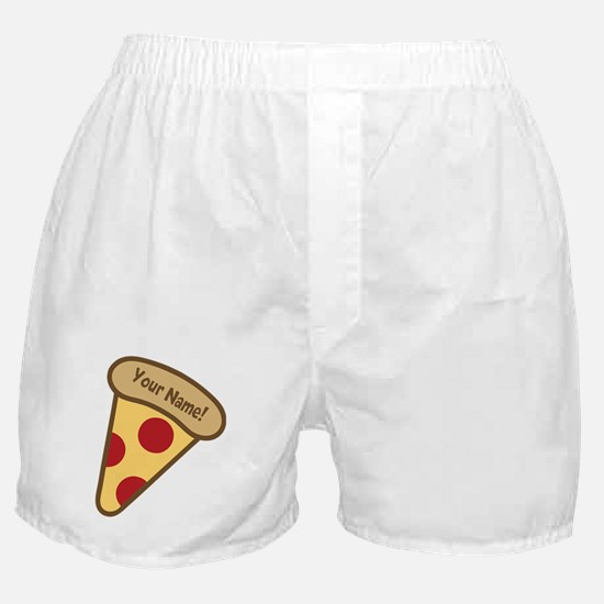 YOUR NAME Cute Pizza Boxer Shorts