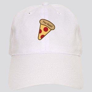YOUR NAME Cute Pizza Baseball Cap
