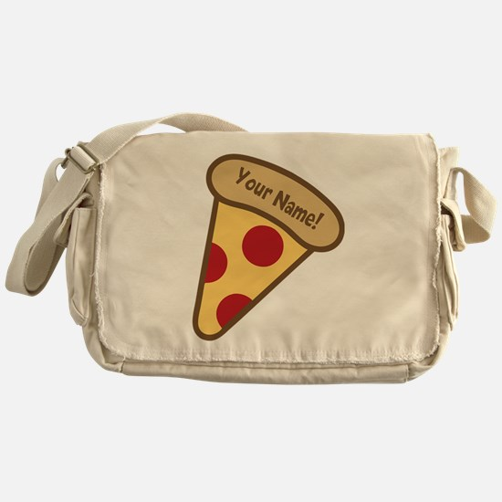 YOUR NAME Cute Pizza Messenger Bag