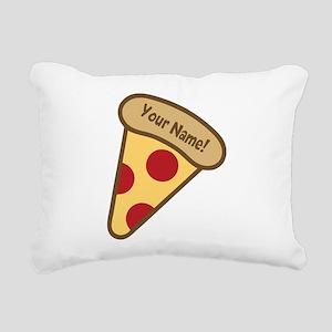 YOUR NAME Cute Pizza Rectangular Canvas Pillow