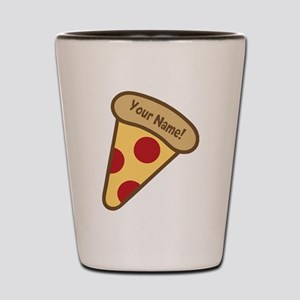 YOUR NAME Cute Pizza Shot Glass