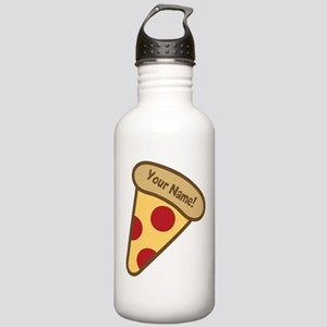 YOUR NAME Cute Pizza Water Bottle