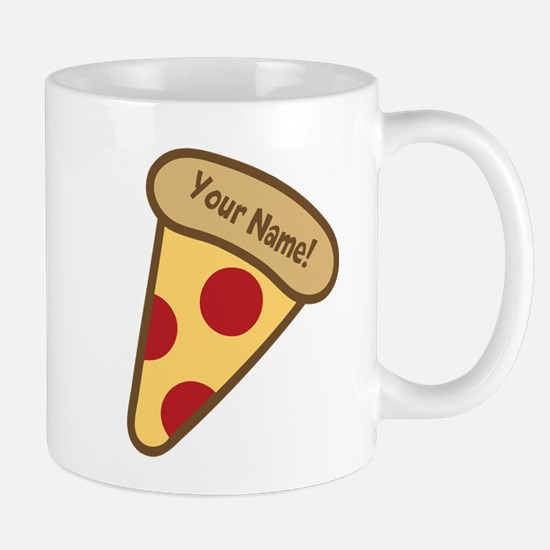 YOUR NAME Cute Pizza Mugs