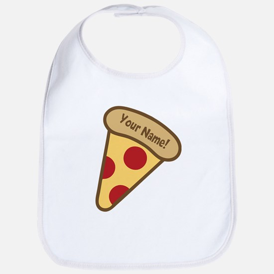 YOUR NAME Cute Pizza Bib