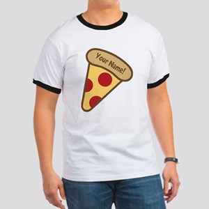 YOUR NAME Cute Pizza T-Shirt