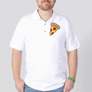 YOUR NAME Cute Pizza Golf Shirt