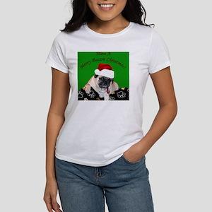 Christmas Bacon Pug Women's T-Shirt