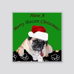 Christmas Bacon Pug Sticker
