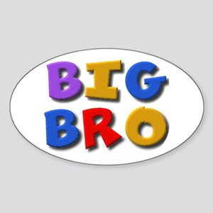 'BIG BRO' for the big brother Oval Sticker