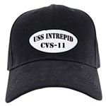 USS INTREPID Black Cap with Patch
