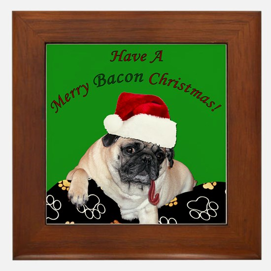 Cute Pet christmas Framed Tile