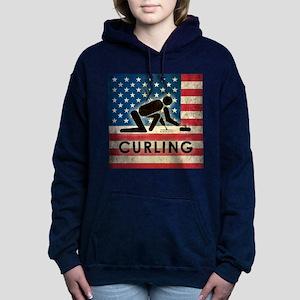 Grunge USA Curling Women's Hooded Sweatshirt