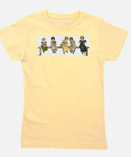 Cute Vintage reading Girl's Tee