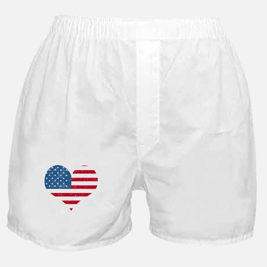 American Flag Heart Boxer Shorts