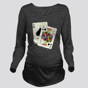 Blackjack Long Sleeve Maternity T-Shirt