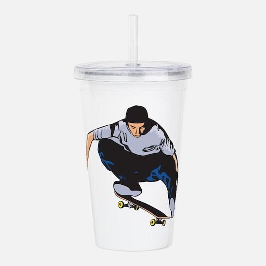 Skateboarding Acrylic Double-wall Tumbler