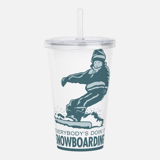 Retro Snowboarding Acrylic Double-wall Tumbler