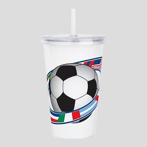 Football Acrylic Double-wall Tumbler
