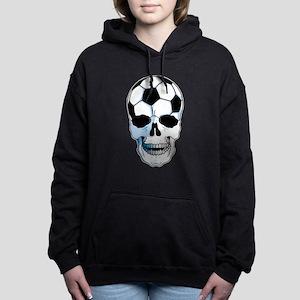 Soccer Skull Women's Hooded Sweatshirt