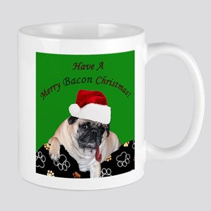 Christmas Bacon Pug Mugs