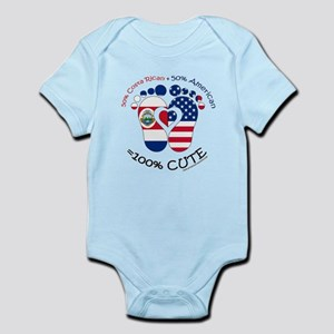 Costa Rican American Baby Body Suit
