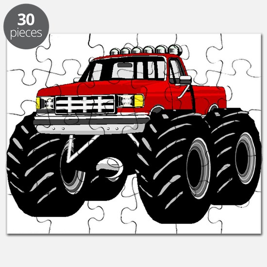 Red MONSTER Truck Puzzle