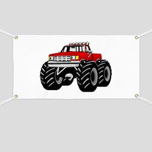 Red MONSTER Truck Banner