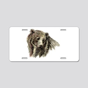 Watercolor Grizzly Bear Animal Nature Art Aluminum