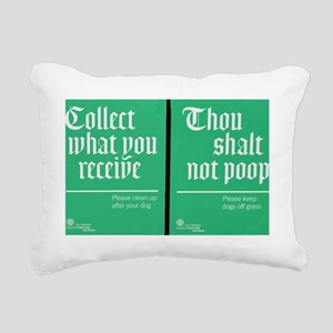 Thou Shalt Not Poop Rectangular Canvas Pillow