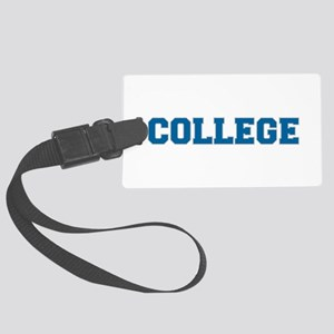 COLLEGE - Blue Large Luggage Tag