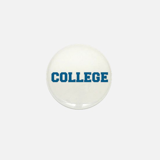 COLLEGE - Blue Mini Button