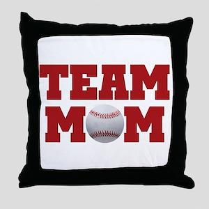 Baseball Team Mom Throw Pillow