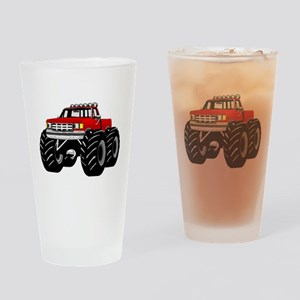 Red MONSTER Truck Drinking Glass
