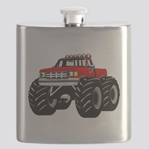 Red MONSTER Truck Flask