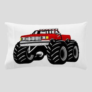 Red MONSTER Truck Pillow Case