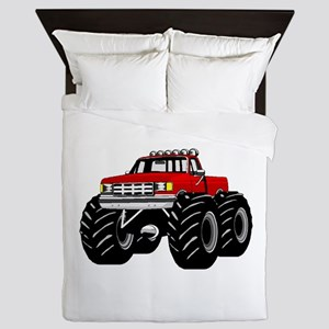 Red MONSTER Truck Queen Duvet
