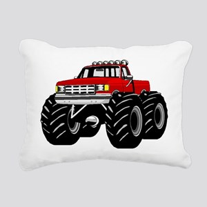 Red MONSTER Truck Rectangular Canvas Pillow