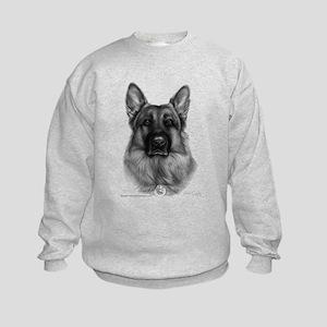 Rikko, German Shepherd Kids Sweatshirt