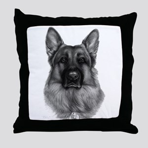 Rikko, German Shepherd Throw Pillow