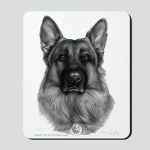 Rikko, German Shepherd Mousepad