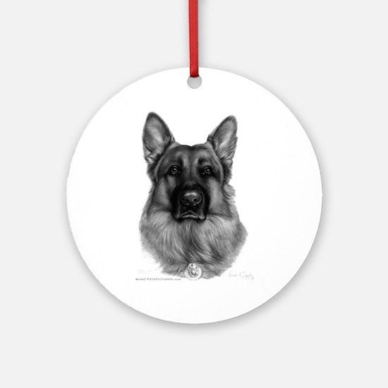 Rikko, German Shepherd Ornament (Round)